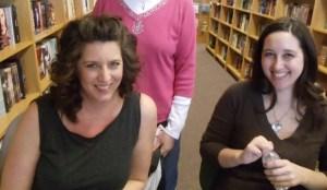 Denise and Trisha at signing