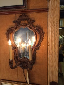 A pair of huge French sconces