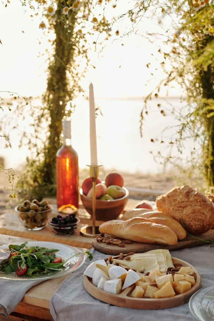 bread food wood beach