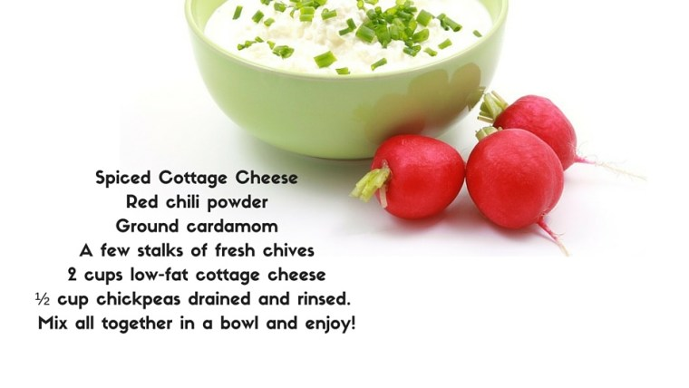 Spiced Cottage Cheese With Chick Peas