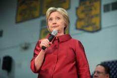 Hillary center screen