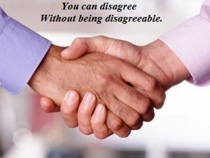 disagagree without being disagreeable