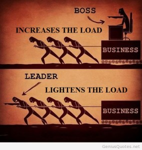 boss adds to load leader lessens the load