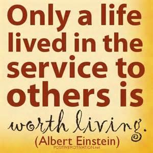 service to others, albert einstein