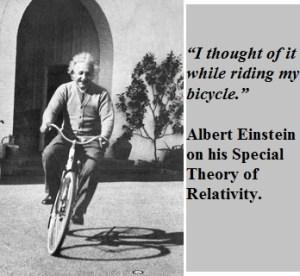 einstein_bike pause to think