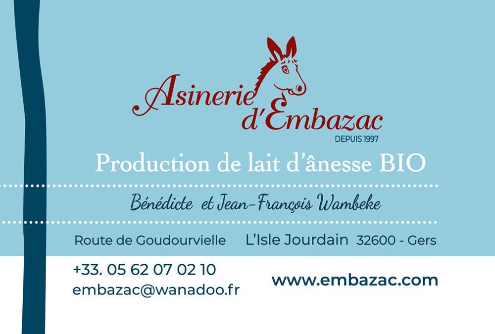 Asinerie d'Embazac – Carte de visite