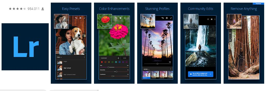 Adobe Lightroom - mejores aplicaciones para tomar fotos android denistec