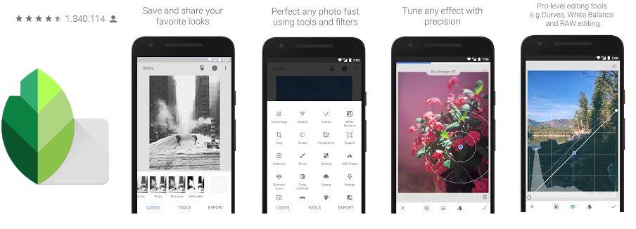 snapseed mejores aplicaciones para tomar fotos android denistec