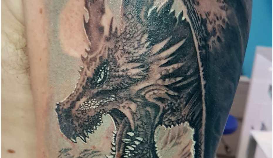 Denis Trevisani, tatautore Verona - Tatuaggio drago