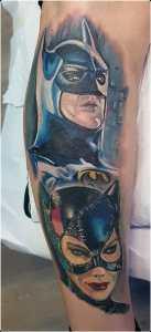 Batman e Catwoman tatuaggio