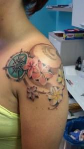 Bussola e Fiori - Tattoo