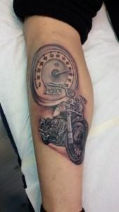 Polpaccio - Tatuaggio harley davidson
