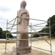 Sculpture under construction at La Vallee des Saints