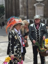 Harvest Festival Guildhall London Pearly King and Queen