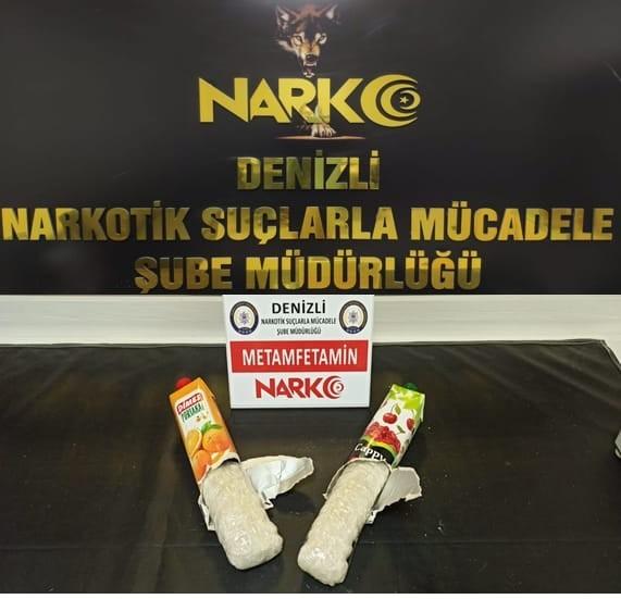 Meyve suyu paketlerinden uyuşturucu madde çıktı