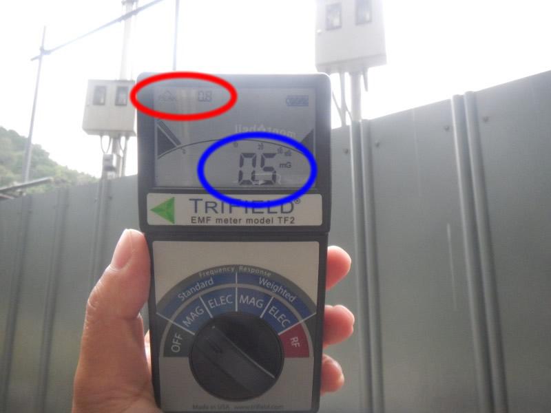 メガソーラー側の測定値