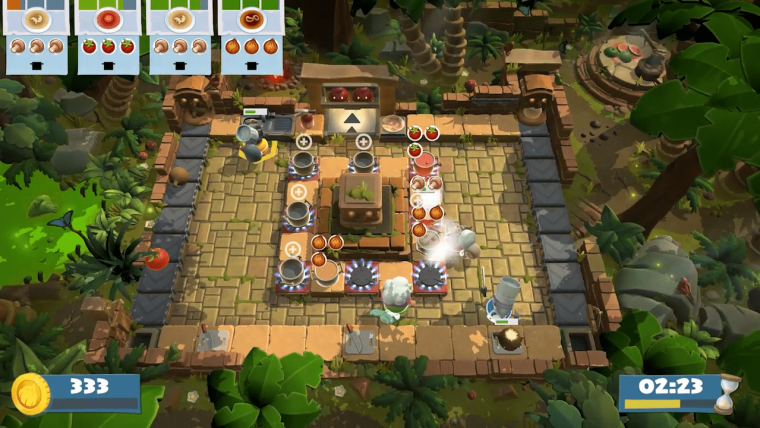 cucina con overcooked