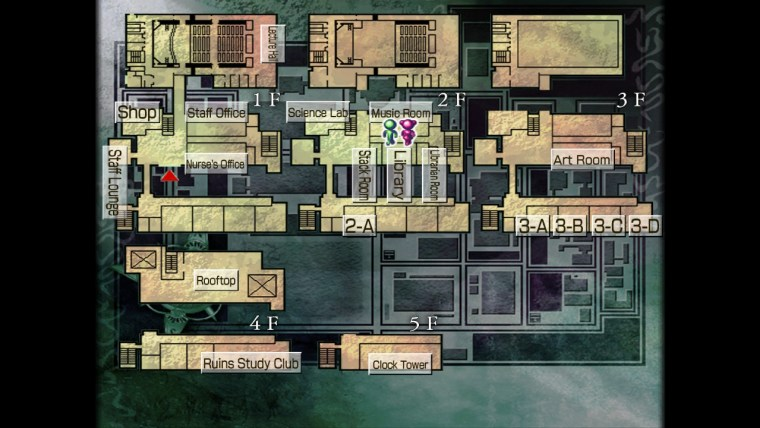 Mappa della scuola in Kowloon High-School Chronicle