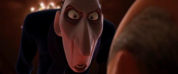 Screenshot: Anton Egos Gesichtszüge gleichen Graf Dracula, dem prototypischen Vampir.