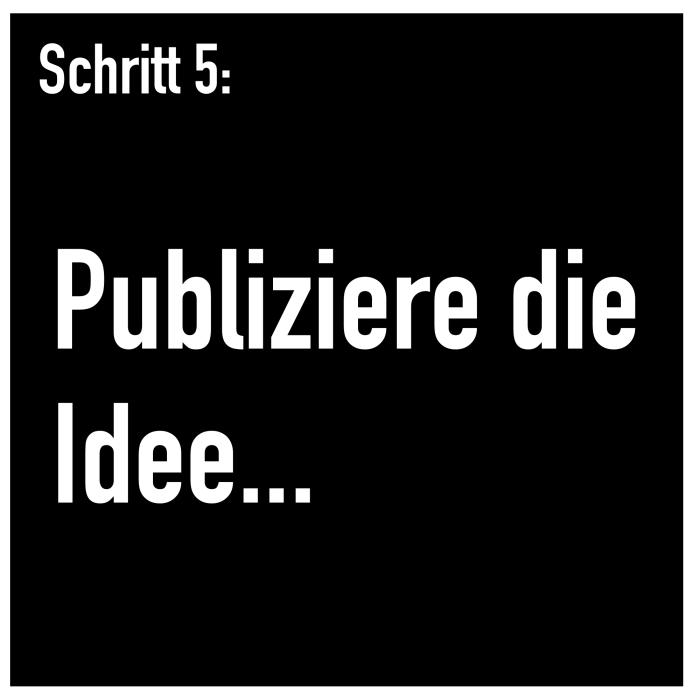Schritt 5: Publiziere die Idee...