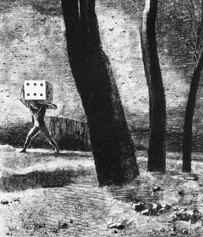 Bild: Odilon Redon, Le Joueur (1879)