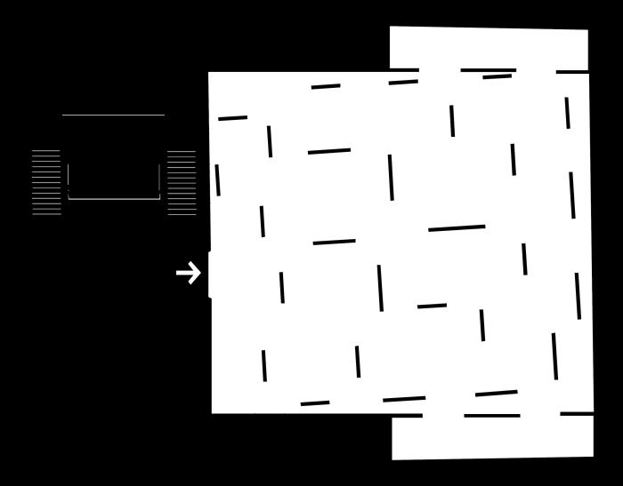 Bild: Grundriss der Ebene 0 aus dem Begleitheft zur Ausstellung Vertigo im mumok Wien.