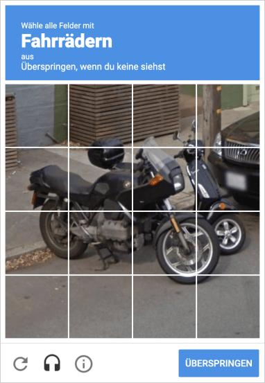 Bild eines Google-Captcha