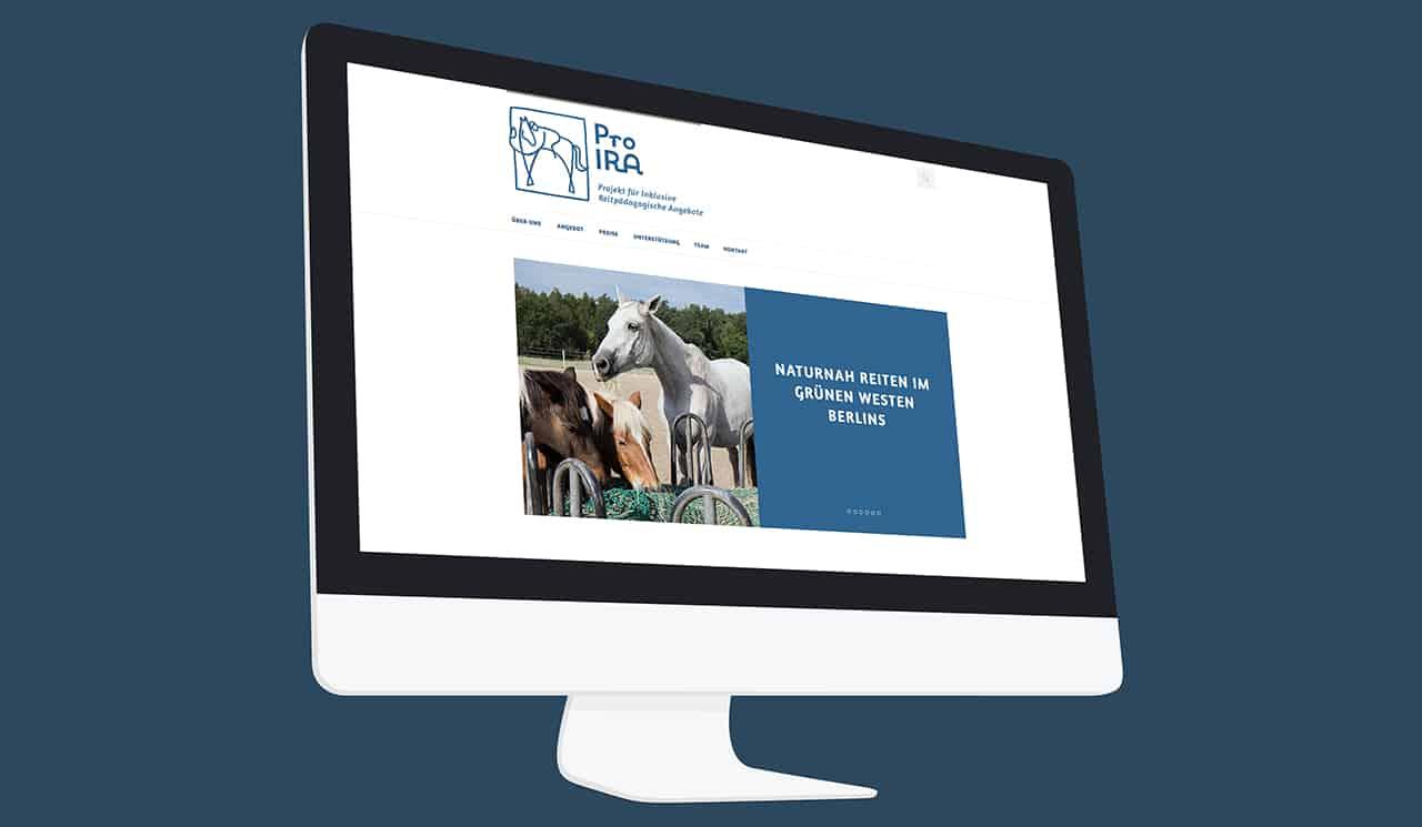 Denken & Handeln | Konzeptagentur für ganzheitliche Gestaltung | Pro Ira e.V. | Webdesign