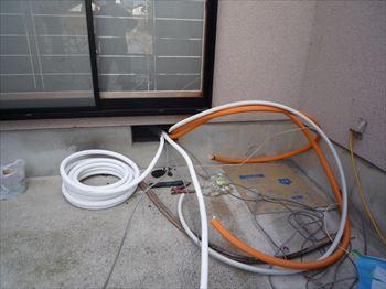 エコキュート配管工程