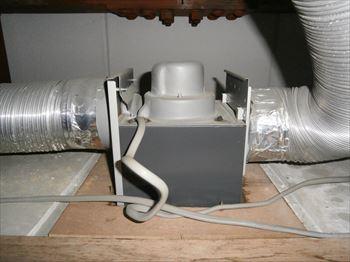 二部屋換気用換気扇機能