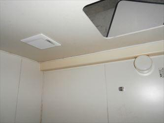 ユニットバス浴室換気扇交換完了