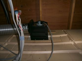 浴室換気扇交換作業