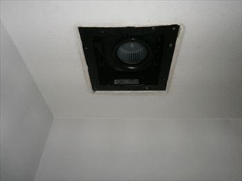 二部屋用換気換気扇本体取替後