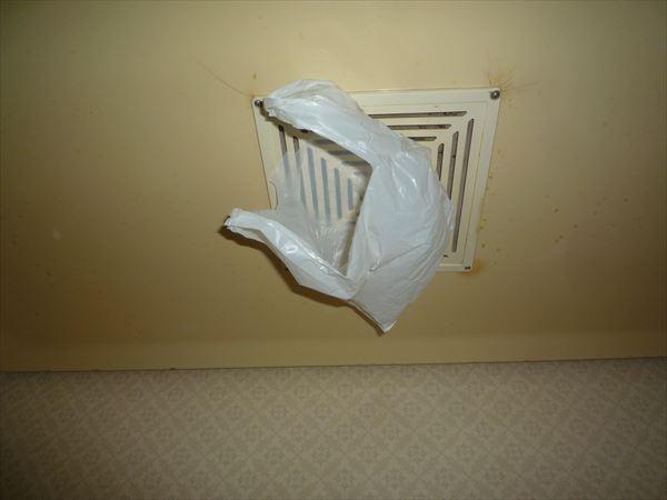 浴室側吸込みテスト