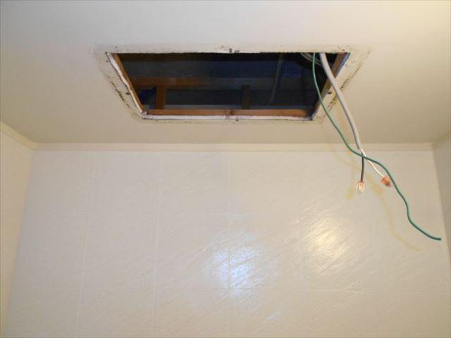 浴室暖房換気乾燥機撤去後