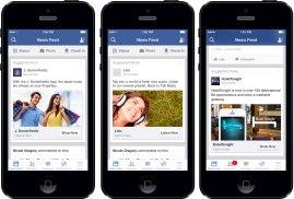Mobiles Interface von Facebook. http://mobileleadersalliance.com/wp-content/uploads/2015/06/facebookadscreenshot.jpg