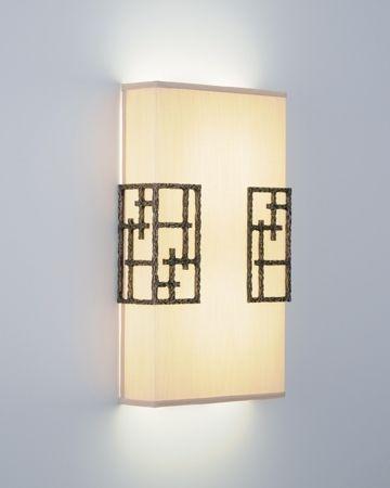 Đèn áp tường bằng vải tạo  ánh sáng êm dịu