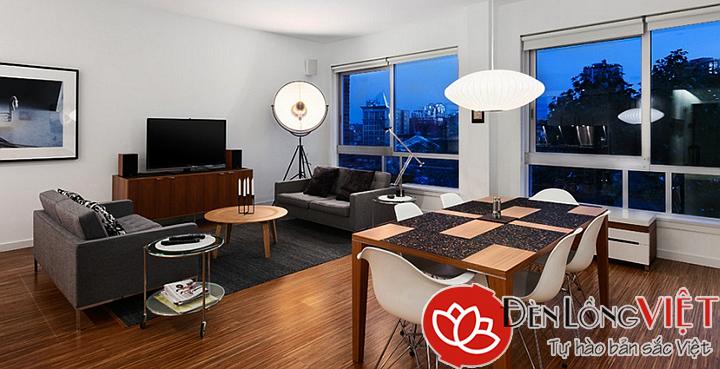 Đèn trang trí nội thất chung cư hẹp