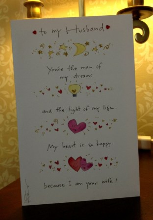 My card from my wonderful wife!