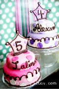 Polka Dot girly Princess cakes