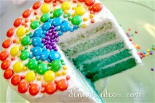 St. Patrick's Day Green Rainbow Cake