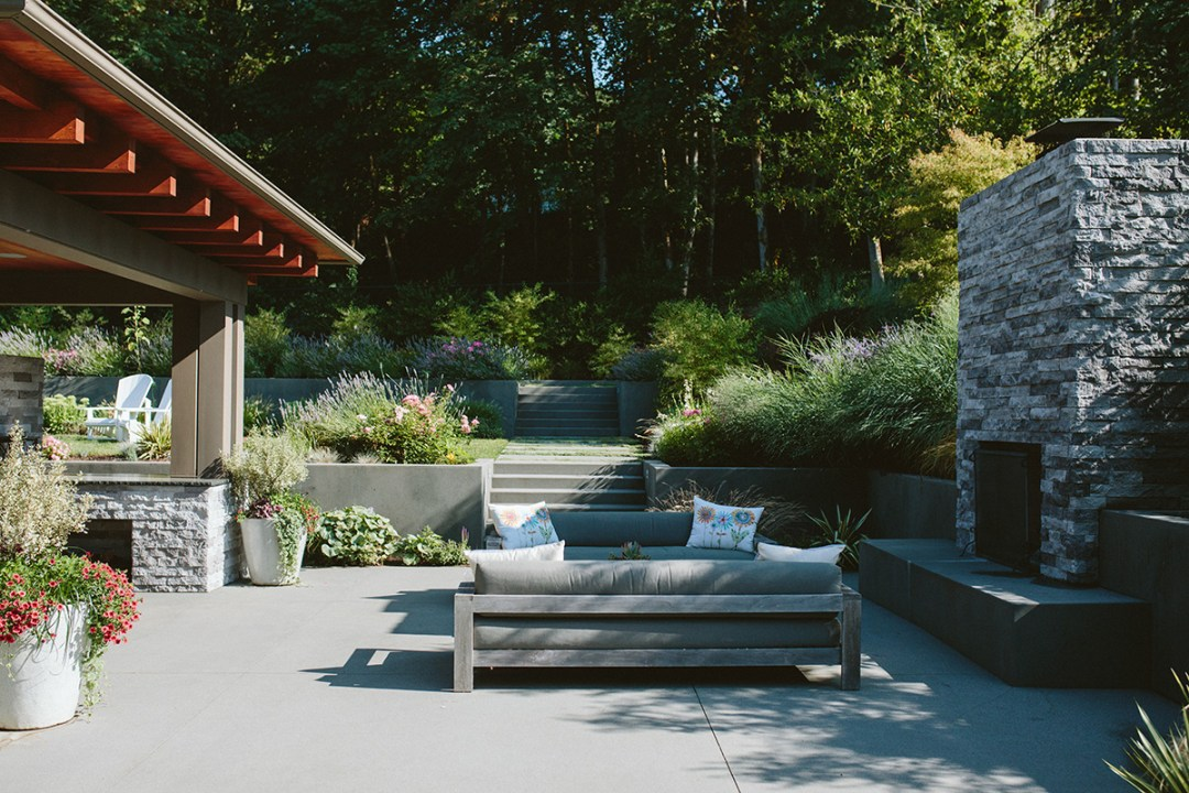 Photo of landscaping and outdoor living design
