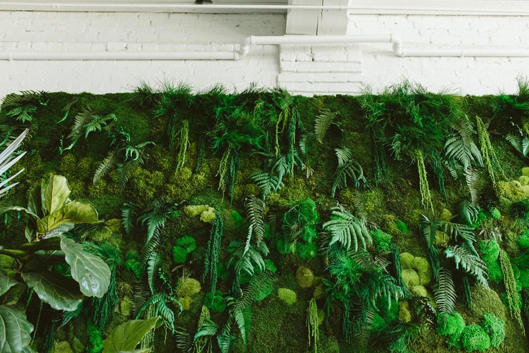 moss wall details