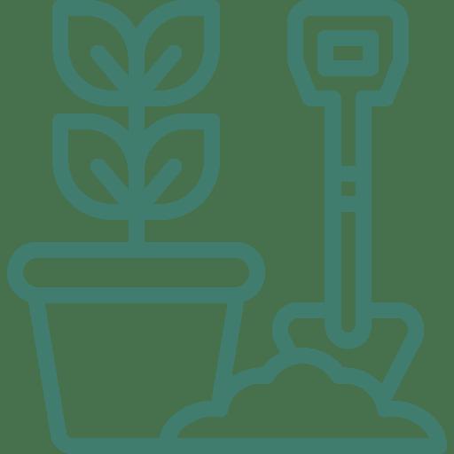 repotting plants icon
