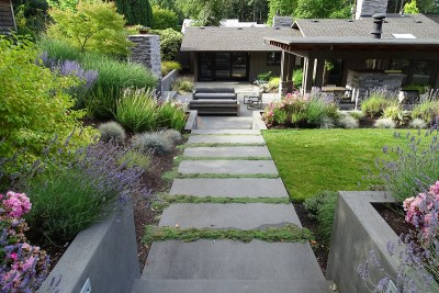 residential landscape pathway