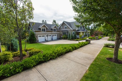 residential landscaping house and driveway