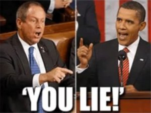 Joe Wilson you lie...