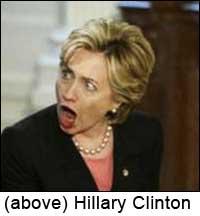 Hillary Clinton-aghast