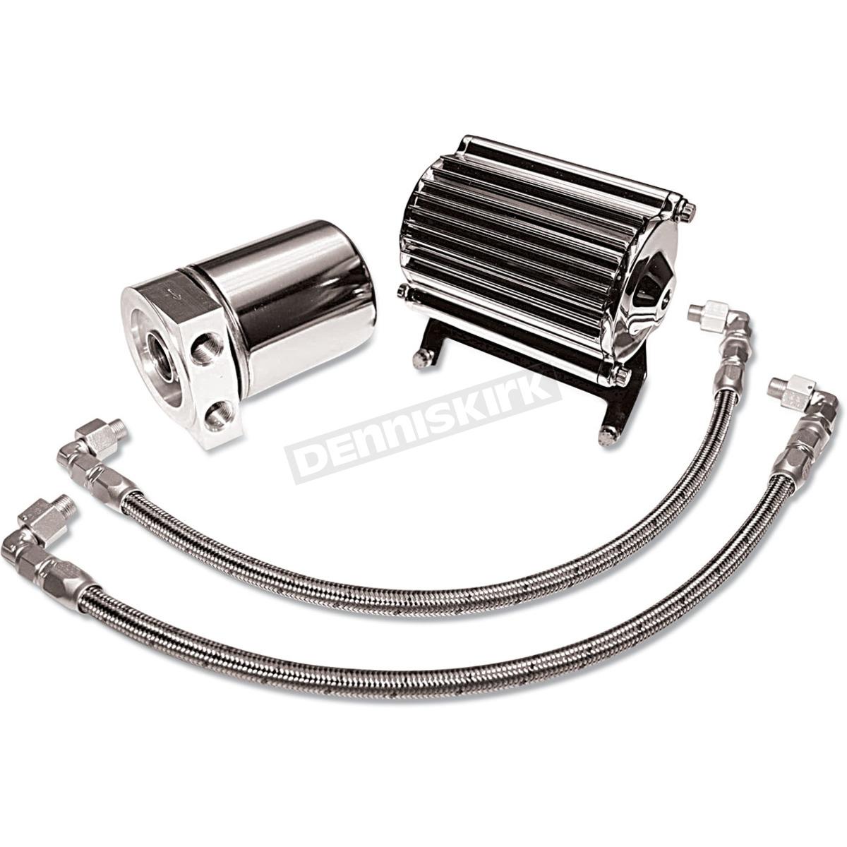Feuling Motor Oil Pump Corporation Chrome Oil Cooler Kit