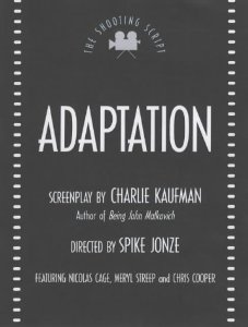 """Cover of """"Adaptation (Shooting Scripts)"""""""